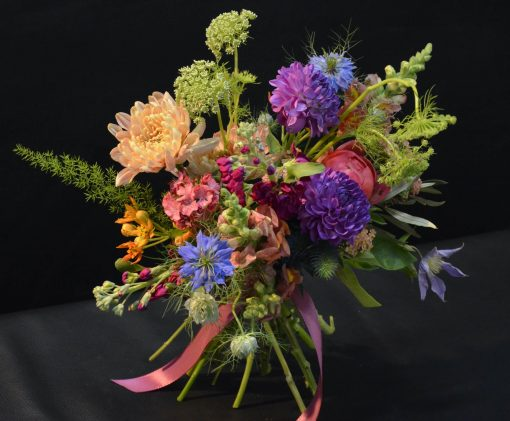 Janis colorful hand tied bouquet