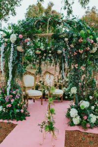 gazebo decoracion floral marbella