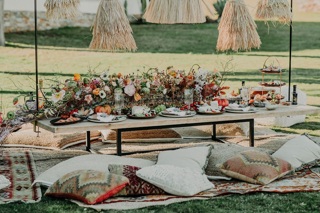 diseño floral mesas marbella