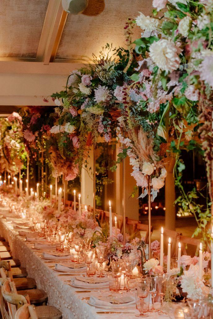 diseño floral mesa de ensueño en Puente Romano