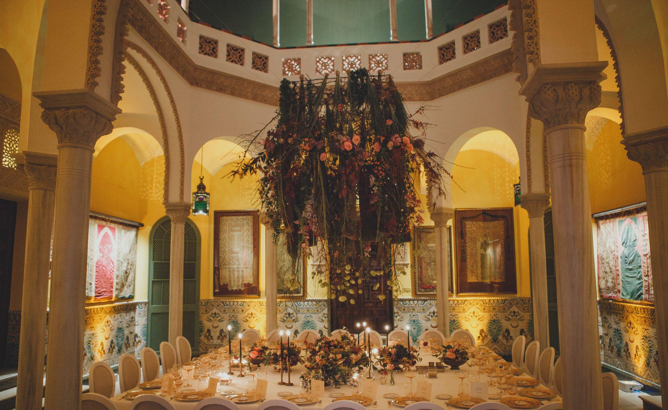 decoración floral colgante eventos dani garcia Sevilla