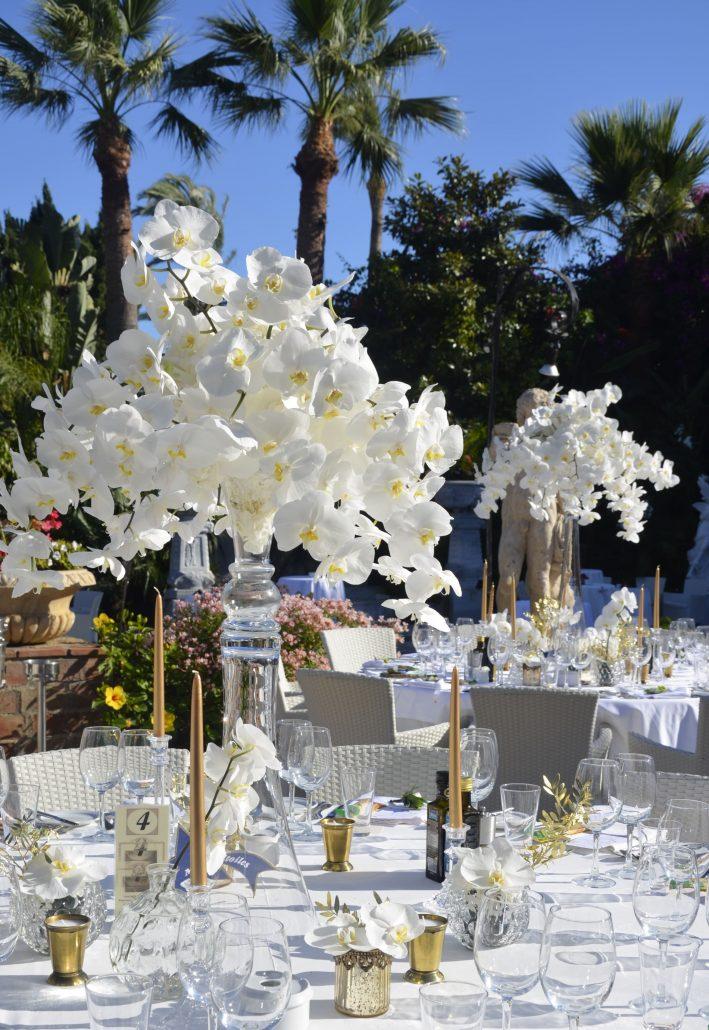 centros mesa Orquídeas