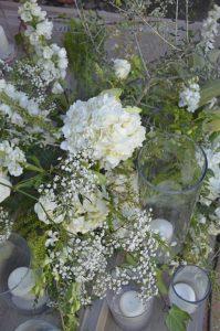 Flores blancos y verdes bodas