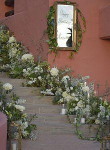 entradas eventos - decoración floral